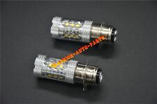 For Yamaha YFZ450 White LED Headlights Bulbs 80W 2004 2005 2006 2007 2008 2009