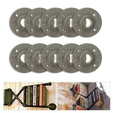 """10 PCS 3/4"""" Malleable Threaded Floor Flange Iron Pipe Fittings Wall Mount US"""