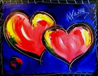 MODERN ABSTRACT HEARTS by Mark Kazav   CANVAS Original Oil Painting IMPRT