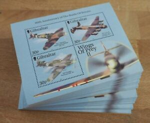2000 Gibraltar; 200 Blocks Flugzeuge, Bl. 43, postfrisch/MNH, ME 800,-