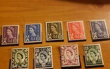 Scotland 1958-1970 Sc# 1-9 St Endrew cross Elizabeth Gb Mnh