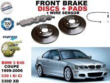 PER BMW 3 E46 330 COUPE 325mm SET DISCHI FRENI ANTERIORI + PASTIGLIE KIT +