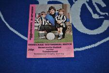 Sunderland Football Testimonial Fixture Programmes (1970s)