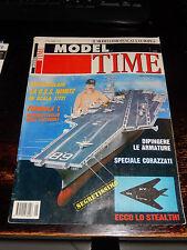 MODEL TIME N° 1 11/1990 modellismo Nimitz Stealth mezzi corazzati invecchiamento