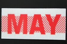 Old School 60's, 70's RED/WHITE Vintage Style CALIFORNIA MONTH STICKER. MAY