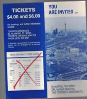 CFL You Are Invited to Toronto Argonauts 1976 Brochure Anthony Davis