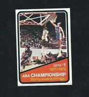 NM 1972 Topps Basketball #242 ABA Championship with Barry.
