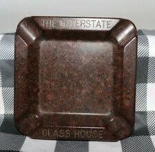 Vintage Bakelite Ashtray The Interstate Glass House