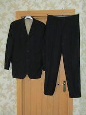 """Ben Sherman men's black purple grey stripe wool jacket trouser suit 40L w34"""""""