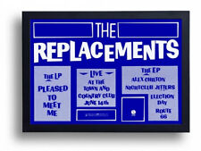 The Replacements Pleased To Meet Me London gig promo repro Poster