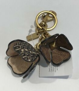 COACH LEATHER SIGNATURE FLOWER KEY FOR CHARM 9141  MULTICOLOR RETAIL $95.00  NWT