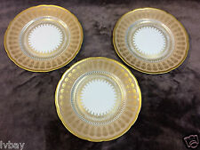3x Bernardaud France . Gold 8 1/2 inch  220mm Plates