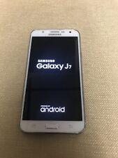 samsung galaxy J7 white clean IMEI 16GB has SD card slot for more memory