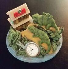 Budweiser Lizard Gecko Desk Clock Advertising 1999 Anheuser Busch