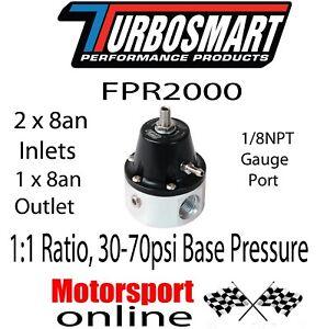 Turbosmart FPR 2000 -8 AN-Black Fuel Pressure Regulator TS-0401-1106