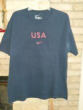 Nike USA Training Shirt Blue Loose Fit Size L