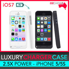 iPhone 5 5S Backup Battery Portable Charger Case Cover  Portable External Power