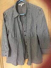 14 Black,dark Grey, White shirt blouse Debenhams Petite