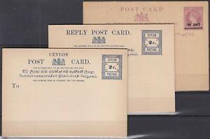 FD11058/ BRITISH CEYLON – POSTAL STATIONERY – H&G # 27 / 29 MINT MNH