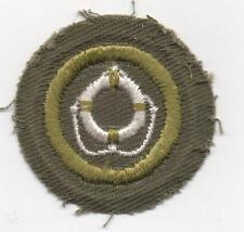 Lifesaving Merit Badge, Type E Khaki Narrow Crimped (1947-60), Mint!