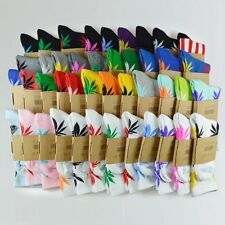 12 Pairs Street Fashion 420 Plant Hemp Marijuana Weed Leaf Crew High Dress Socks