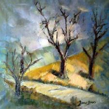 """Jane Henri -  """"Sur le chemin"""" (huile sur toile, SBD)"""
