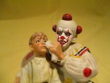 """Scary Clown Version Of Norman Rockwell's """"The Runaway"""" Ceramic Figurine,Gorham"""