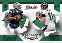 2018 Panini Classics Football Classic Clashes Insert Singles (Pick Your Cards)
