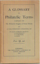 A Glossary of Philatelic Terms, Philatelic Congress Great Britain London 1933