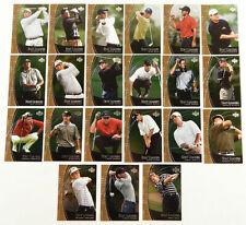 2001 Upper Deck Golf Stat Leaders 21 Card Set  with 4 Tiger Woods, Garcia, etc
