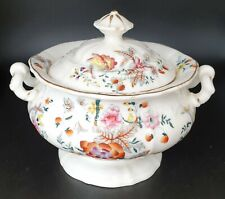 More details for lovely floral pattern early victorian sucrier lidded sugar bowl c1850