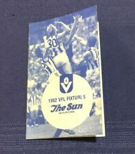 GREAT 1982 VFL AFL FIXTURE THE SUN - VERY GOOD CONDITION