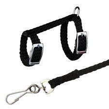 Black Nylon Harness & Lead Set for Rats & Ferrets 1.25 Meter Detachable Leash