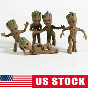 Guardians of the Galaxy Baby Groot Cartoon 5pcs Action Figure Kids Toy Doll Gift