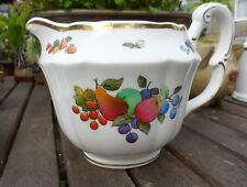 ANTIQUE MILK JUG HAND PAINTED, CROWN STAFFORDSHIRE. 4 INS TALL VERY GOOD.