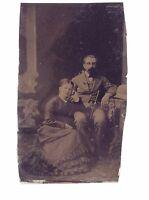 Vintage Tintype Photograph Woman Men Portrait Couple Fashion Lifestyle H291