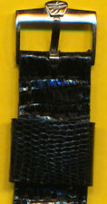 NOS VINTAGE BREITLING BUCKLE & RETRO LIZARD STRAP BAND 806 809 22mm