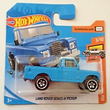 Hot Wheels Land Rover Series 111 Pickup - blue/white