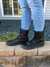 Women's Dr Martens Air Wair Leather Mid Calf Combat Boots Size 9