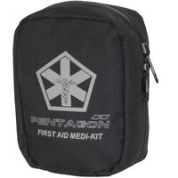 Pentagon Hippokrates First Aid Kit Tactical Army Police Security Carry Bag Black