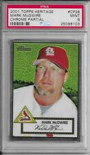 MARK MCGWIRE (St. Louis Cardinals) 2001 Topps Heritage Chrome #CP28 PSA Mint 9