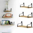 3 Pack Vintage Industrial Wooden Metal Wall Floating Shelf Storage Shelving Unit