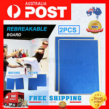 2 x Break Board – blue Karate Taekwondo - Rebreakable Boards