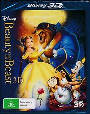 Disney Beauty And The Beast 3D Blu-ray NEW
