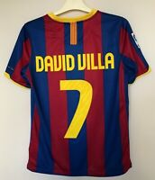 BARCELONA 20102011 HOME FOOTBALL JERSEY CAMISETA SOCCER SHIRT #11 DAVID VILLA