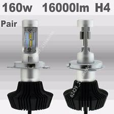 Pair H4 160W 16000LM Car LED Headlight Bulbs Bulb 6000K White Hi Low Beam Light