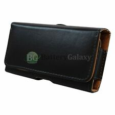 HOT! Genuine Leather Pouch Belt Cell Phone Case for Asus PadFone X/Zen