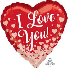 Rojo & Oro Rosa Aluminio Helio Corazones i Love You Globo Romántico Decoración
