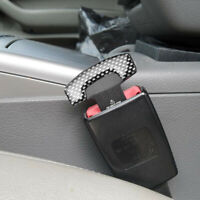 2Pcs Durable Car Safety Seat Belt Buckle Alarm Stopper Clip Clamp Universal