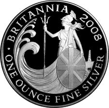 Fine Silver one ounce Britannia 2008 £2 Coin with certificate unopened